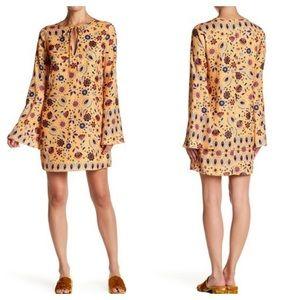 English Factory • Sunrose Print Bell Sleeves Dress